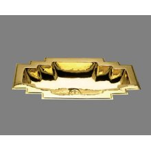 Small Large - Art Deco Style Lavatory - Plain Pattern - Antique Brass
