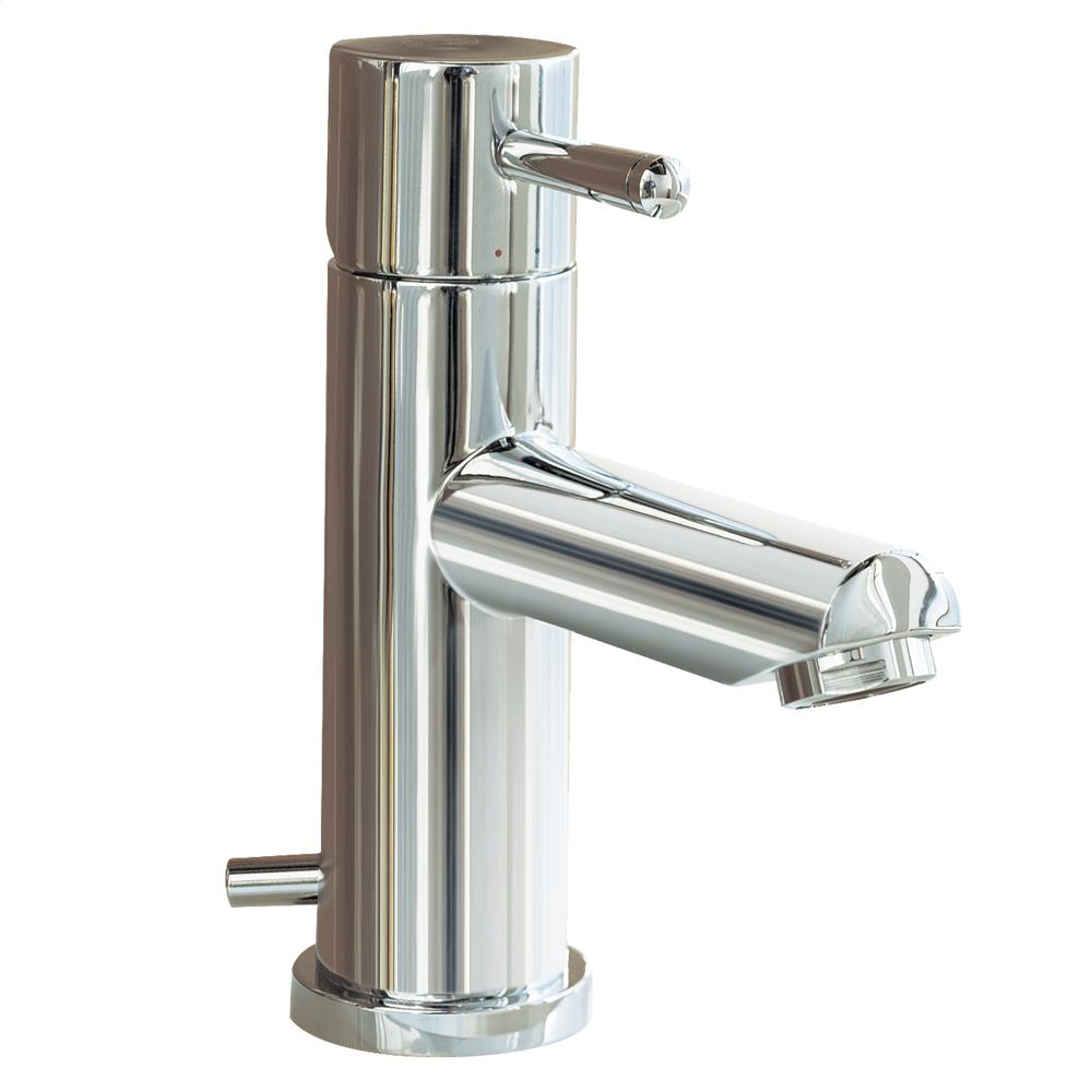 Serin 1 Handle Monoblock Bathroom Faucet   Polished Chrome