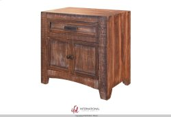 1 Drawer, 2 doors Nightstand Product Image