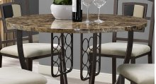 Concorde Faux Marble Top Pub Table with Wine Rack