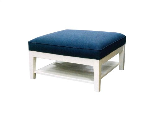 Ottoman, Available in Cottage White Finish Only.