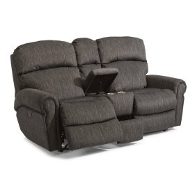 Langston Fabric Reclining Loveseat with Console
