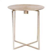 Raw Gold Spiral Top Accent Table