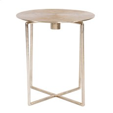 Raw Gold Spiral Top Accent Table Product Image