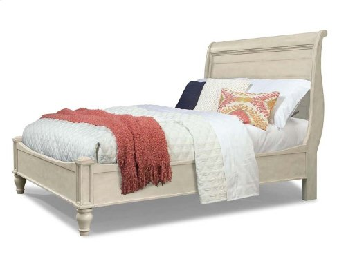 Cottage Sleigh Bed - White