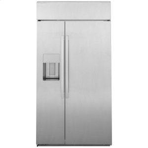 "GEGE Profile(TM) Series 42"" Smart Built-In Side-by-Side Refrigerator with Dispenser"