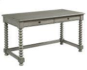 Dove Grey Spool Leg Desk Product Image