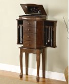 "Louis Phillipe ""Walnut"" Jewelry Armoire Product Image"
