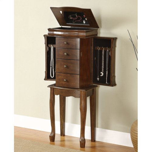 "Louis Phillipe ""Walnut"" Jewelry Armoire"