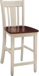 "24"" San Remo Stool Almond & Espresso Product Image"