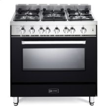"Matte Black 36"" Gas Single Oven Range - 'N' Series"