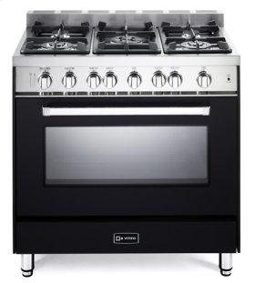 "Matte Black 36"" Gas Single Oven Range - 'N' Series"