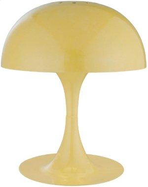 Mini Table Lamp, Yellow Metal Shade, E12 Type G 40w