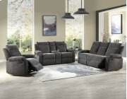 """Empire Console Loveseat Charcoal 74""""x38""""x39"""" Product Image"""