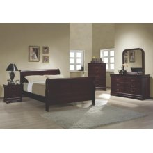 Louis Philippe Traditional Red Brown Full Four-piece Set