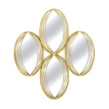 Gold Metal Mirror: 4 Ovals