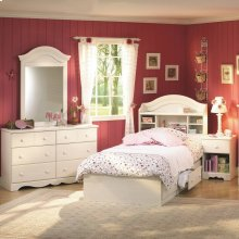 4-Piece Bedroom Set - White Wash