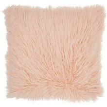 "Faux Fur Bj101 Rose 17"" X 17"" Throw Pillows"