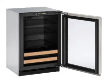 """2000 Series 24"""" Beverage Center With Stainless Frame Finish and Field Reversible Door Swing"""