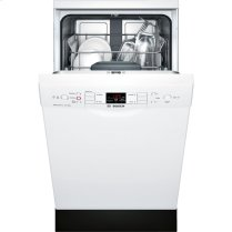 "18"" Special Application Recessed Handle Dishwasher 300 Series- White"