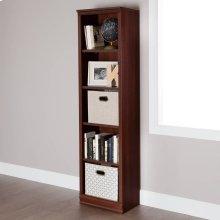 5-Shelf Narrow Bookcase - Royal Cherry