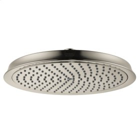 Brushed Nickel Showerhead 240 1-Jet, 2.5 GPM