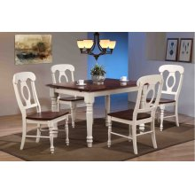 DLU-ADW3660-C50-AW5PC  5 Piece Butterfly Leaf Dining Set  Napoleon Chairs