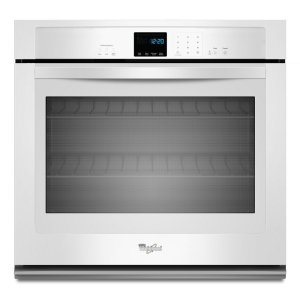 4.3 cu. ft. Single Wall Oven with SteamClean Option - WHITE