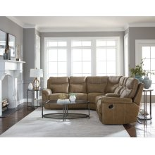 Manual Brown 3PC Sectional Sofa
