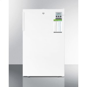 "SummitCommercially Listed ADA Compliant 20"" Wide All-freezer With High Temperature Alarm, Lock, and Hospital Grade Cord"