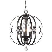 Ella 3 Light Pendant in Etruscan Bronze