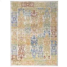 Solimar Distressed Southwestern Aztec 4x6 Area Rug in Multicolored