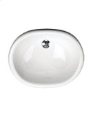 White MADRID Drop-in Lavatory No faucet holes Product Image