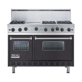 "Graphite Gray 48"" Open Burner Range - VGIC (48"" wide, six burners 12"" wide griddle/simmer plate)"