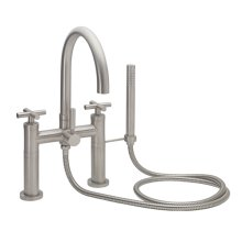 Contemporary Deck Mount Tub Filler