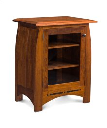 Aspen Media Storage Cabinet with Inlay