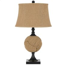 150W 3 Way Burlap Rope Wrapped Table Lamp