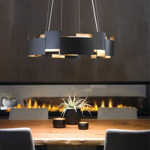 """Moderne 26.5"""" LED Chandelier Satin Nickel"""