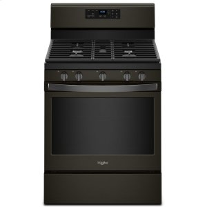 5.0 cu. ft. Freestanding Gas Range with Center Oval Burner - BLACK STAINLESS