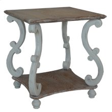 """""""Cottage"""" White Square End Table"""