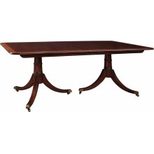 Solid Mahogany Top With Silkscreen Highlighted Border Haverford Dining Table