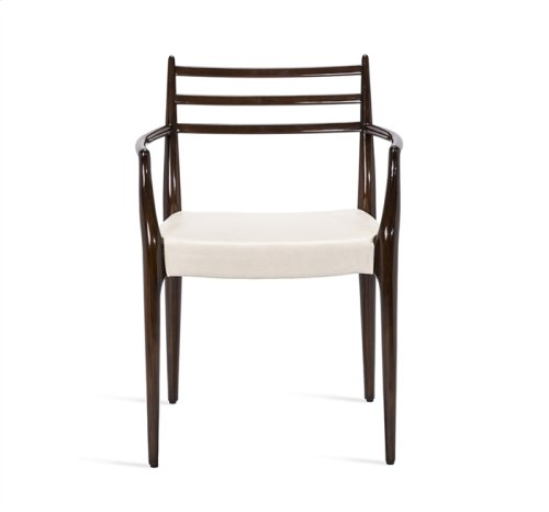 Beckham Arm Chair - Walnut/ Cream