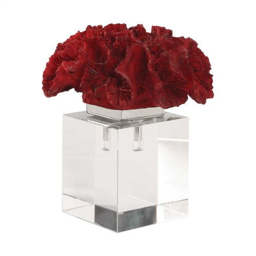 Red Coral Cluster Sculpture
