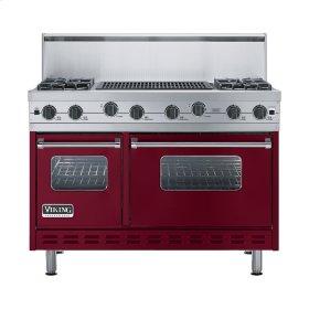 """Burgundy 48"""" Sealed Burner Range - VGIC (48"""" wide, four burners 24"""" wide char-grill)"""