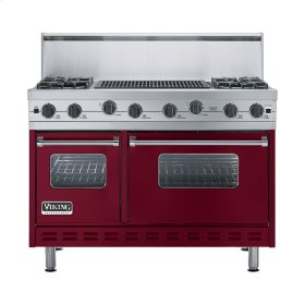 "Burgundy 48"" Sealed Burner Range - VGIC (48"" wide, four burners 24"" wide char-grill)"