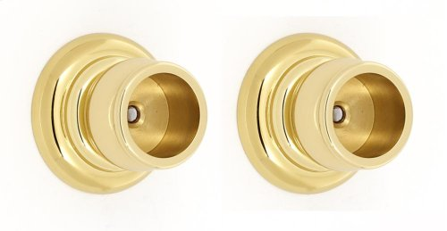 Charlie's Collection Shower Rod Brackets A6746 - Polished Brass