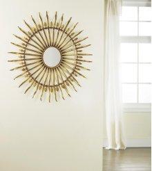 Spanish Sun Mirror, Gold Leaf Finish.