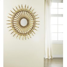 Spanish Sun Mirror, Gold Leaf Finish.