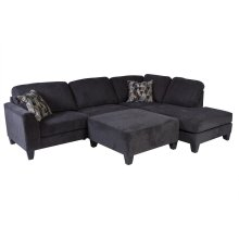 Ponderay Sectional with Ottoman, U4607