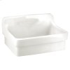 Plaster Wall Mounted Work Sink - White